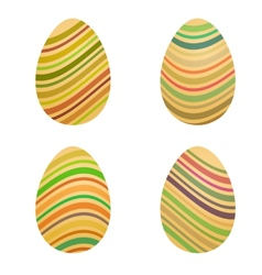 - easter eggs vector image