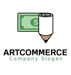 Art commerce logo vector