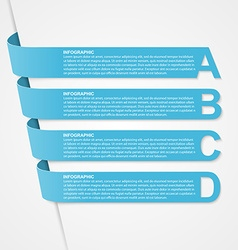 Abstract 3d options ribbons infographic vector