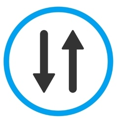 Arrows Exchange Vertical Icon vector image