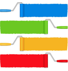 Paint rollers vector