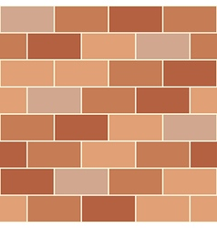 Brown orange brick wall vector