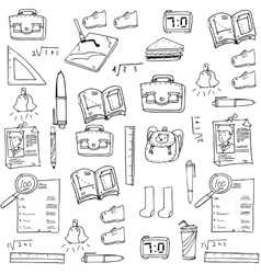 Hand draw school doodles collection vector