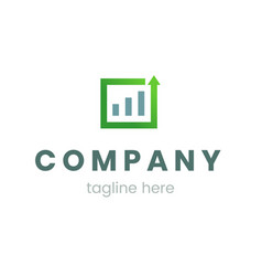 business graph or chart logo for company template vector image