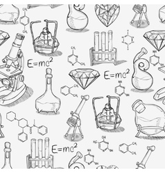 Chemistry lab pattern vector image vector image