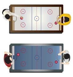 Game room hockey table top view vector