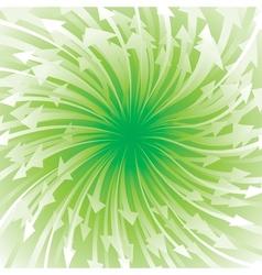Green Arrow Flowing vector image vector image