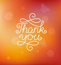 hand-lettering thank you vector image