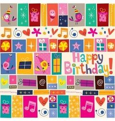 Happy Birthday pattern 4 vector image vector image