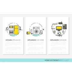 Home Electronics Appliances Business Brochures vector image
