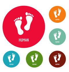 Human step icons circle set vector