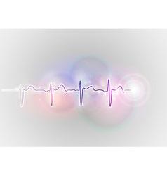 medical symbol ekg blue vector image vector image