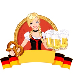 Oktoberfest girl design vector