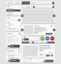 Online shop elements set vector image vector image