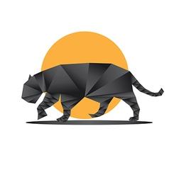 Origami jaguar6 vector image