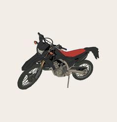 Red motorbike sketch vector