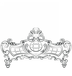 Sofa furniture front luxurious ornament vector