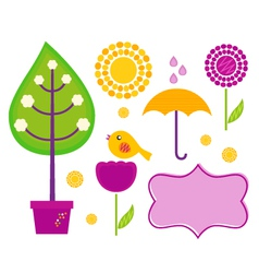 spring design elements vector image