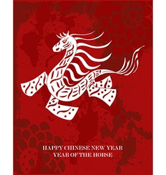 Traditional Chinese Horse New Year 2014 vector image vector image