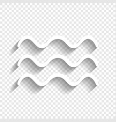 Waves sign white icon with vector