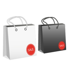 Package with sale tag vector