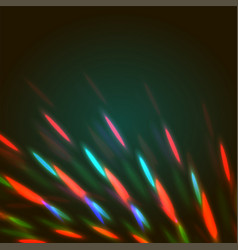 Bright bokeh shining flares vector