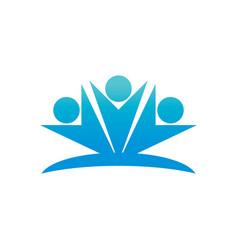 Happy people logo image vector