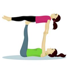 acro yoga with child vector image