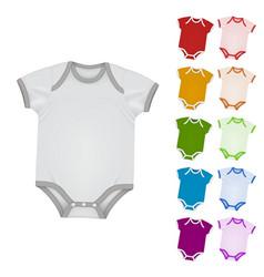 Baby bodysuit blank template vector