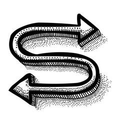 Cartoon image of location icon route symbol vector