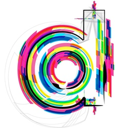 Colorful font - letter d vector