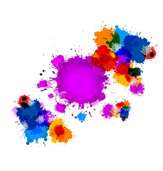 Colorful Stains Blots Splashes Background with vector image