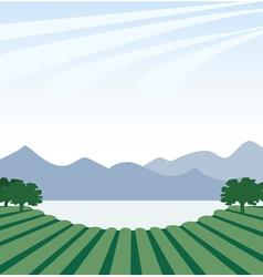 Near Lake vector image