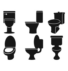 Toilet silhouettes vector