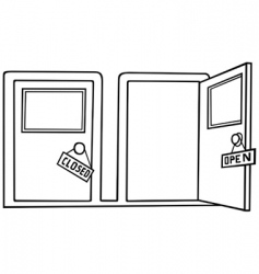 Door open and close vector