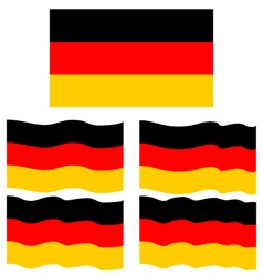 Flat and waving flag of germany vector
