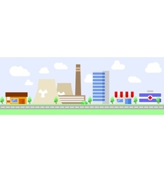 Cityscape industrial area vector