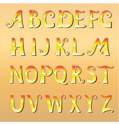 Font cheerful sunny vector
