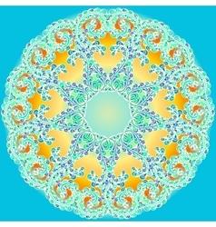 Hand drawn doodle mandala vector image