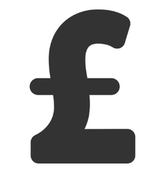 Pound sterling flat icon symbol vector