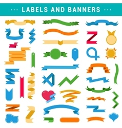 Set of Labels Banners and Ribbons vector image