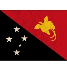 Papua new guinea paper flag vector