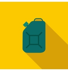 Green fuel canister icon flat style vector