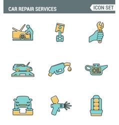 Icons line set premium quality of car repair vector