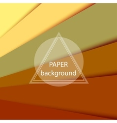Abstract background with brown paper sheets vector