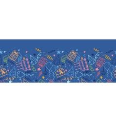 Birthday horizontal seamless pattern background vector image