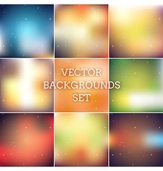 Blurred backgrounds pack vector image vector image