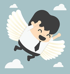 Businessman flying freedom vector