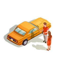 Car kit isometric composition vector
