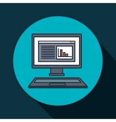 computer desktop display isolated icon vector image
